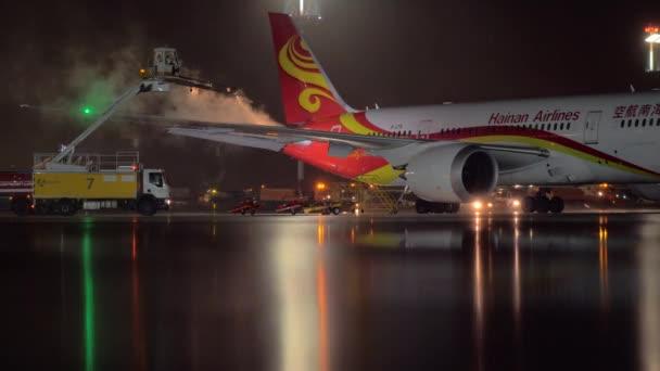 Moscovo Rússia Outubro 2017 Avião Passageiros Degelo Boeing 787 Dreamliner  — Vídeo de Stock ea0cadc72eb95