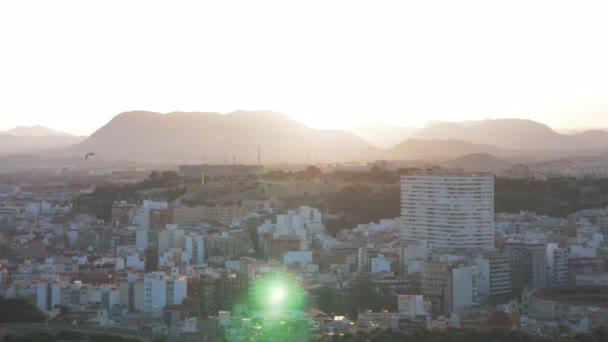 Szép légi kilátás nyílik este Alicante