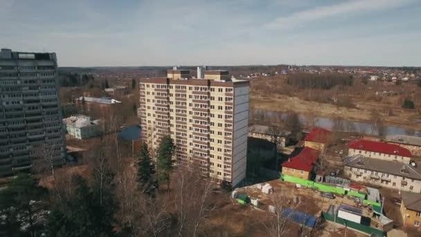 Légi felvétel lakónegyedében suburbs, Oroszország
