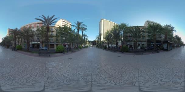 360 VR Paseo Dr. Gadea in Alicante Spain. Paved pedestrian walkway