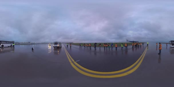 360 VR Spotters shooting planes at Sheremetyevo Airport, Moscow