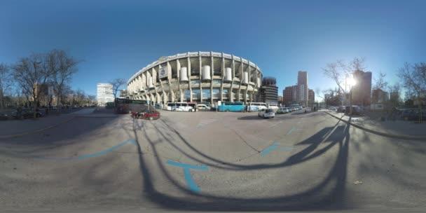 360 VR Madrid view with Santiago Bernabeu Stadium, Spain