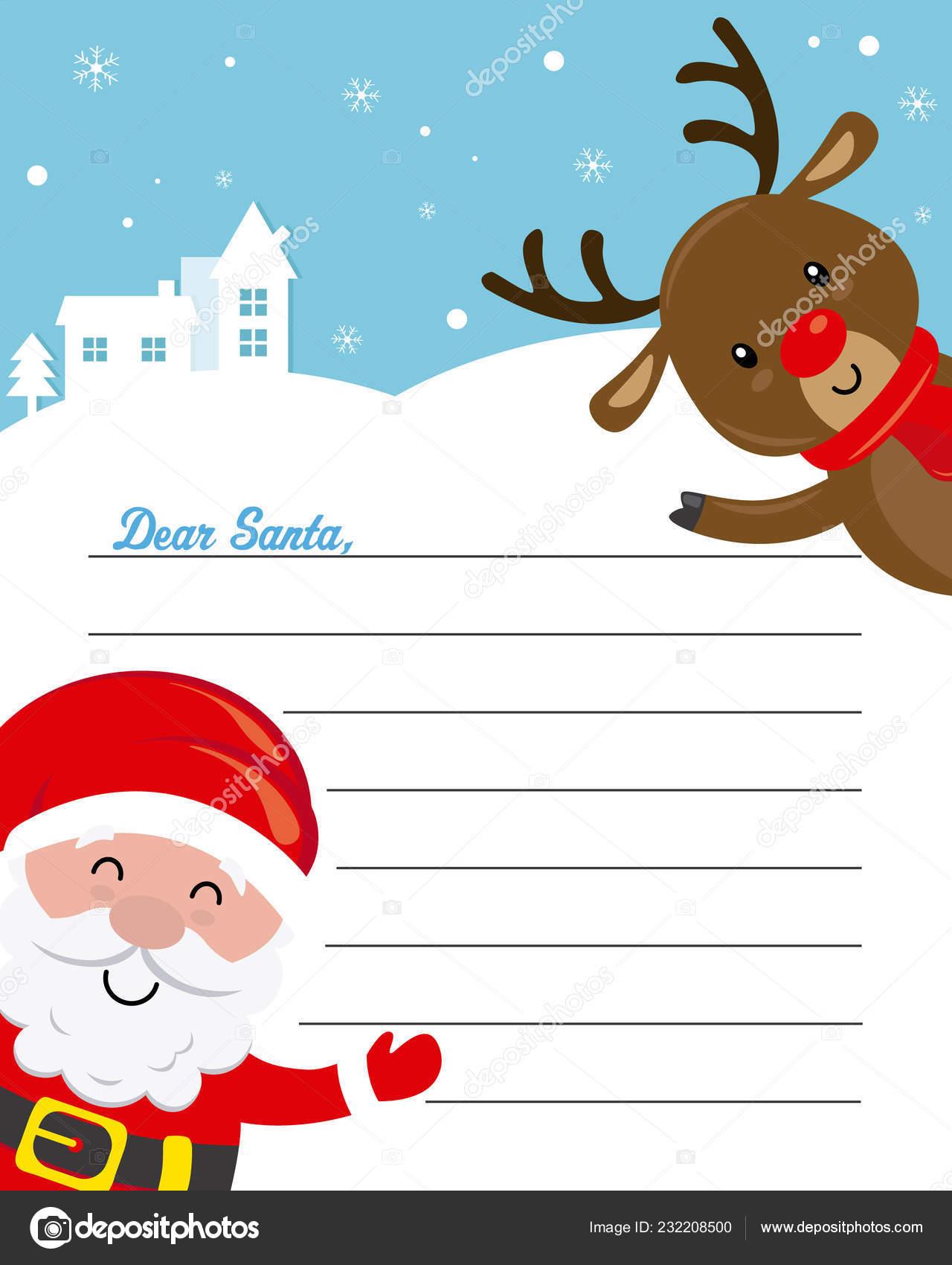 Lettera A Babbo Natale Divertente.Lettera Babbo Natale Divertente Babbo Natale Renna Con