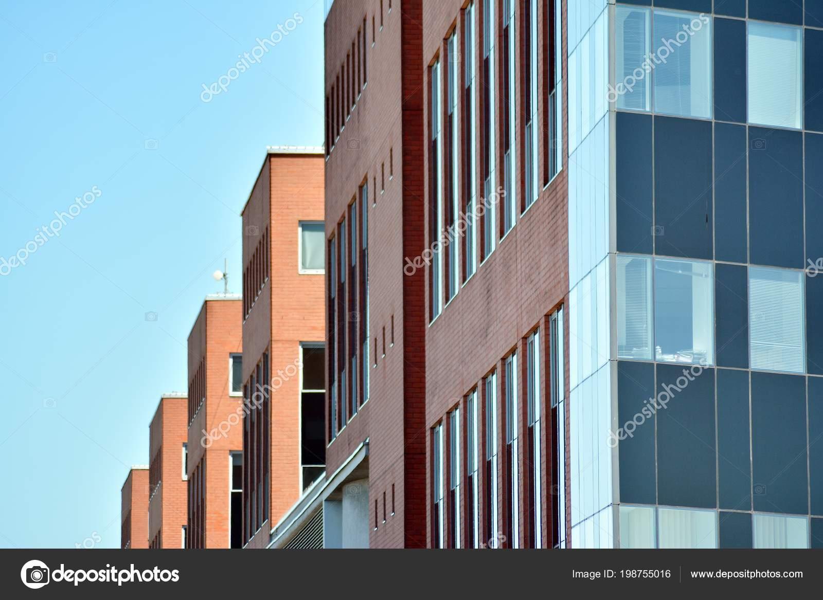 Mur immeuble bureaux moderne acier verre u2014 photographie grand