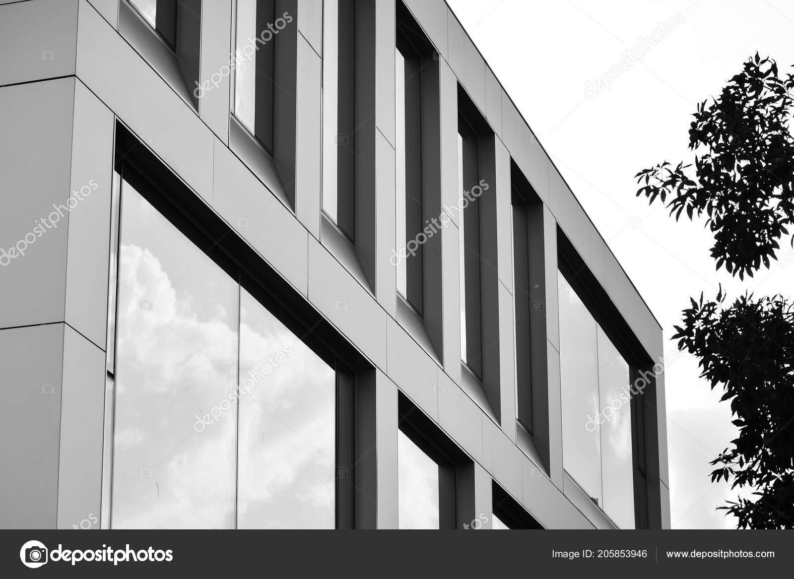 Intérieur de bureaux moderne avec mur de verre rendu d banque d