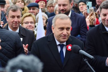 Warsaw, Poland.11 November 2018. Opposition welcoming the President of the European Council