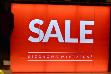 Sale sign board. Shopping sale background