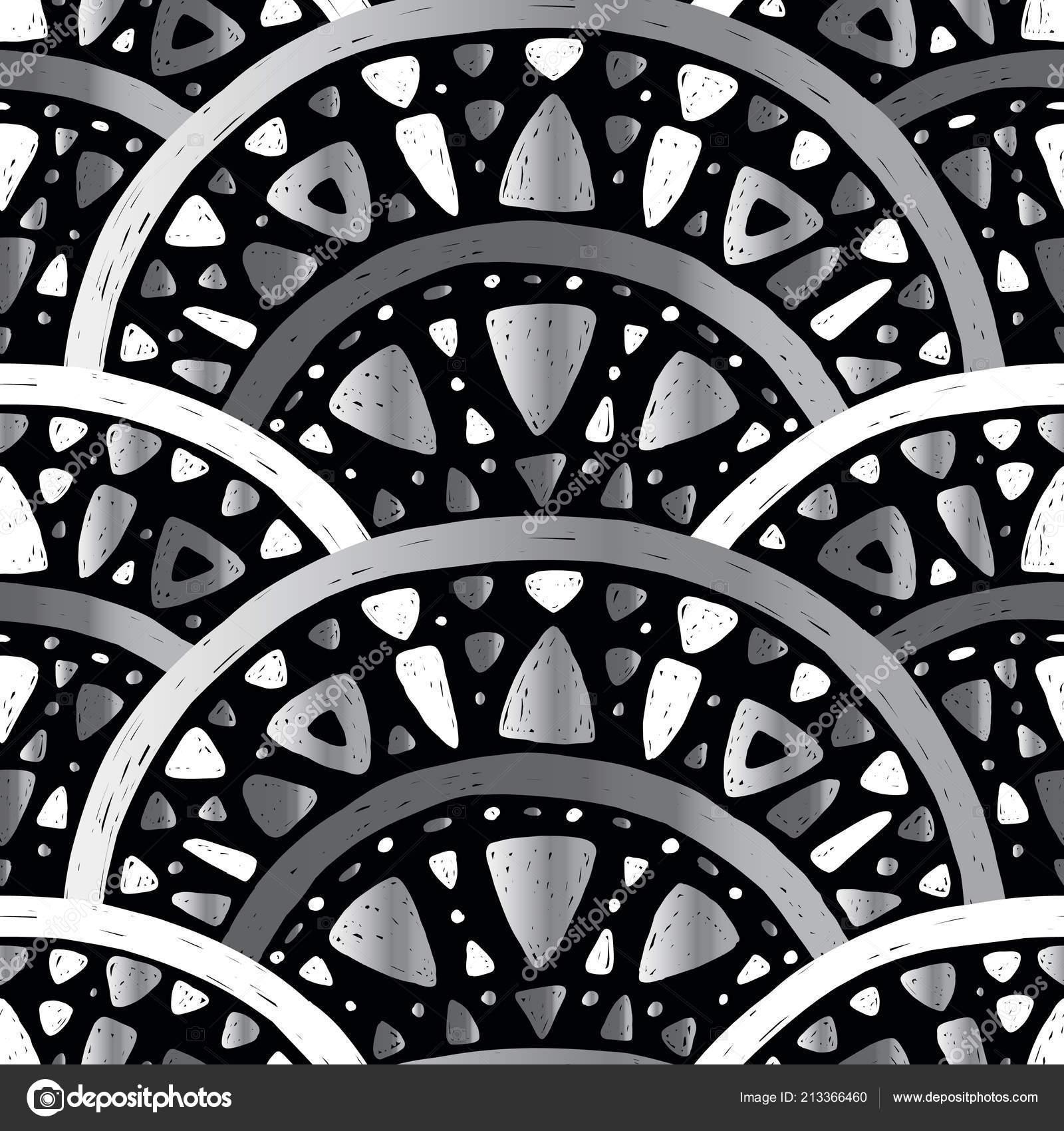 Art Nouveau Seamless Pattern Stock Vector