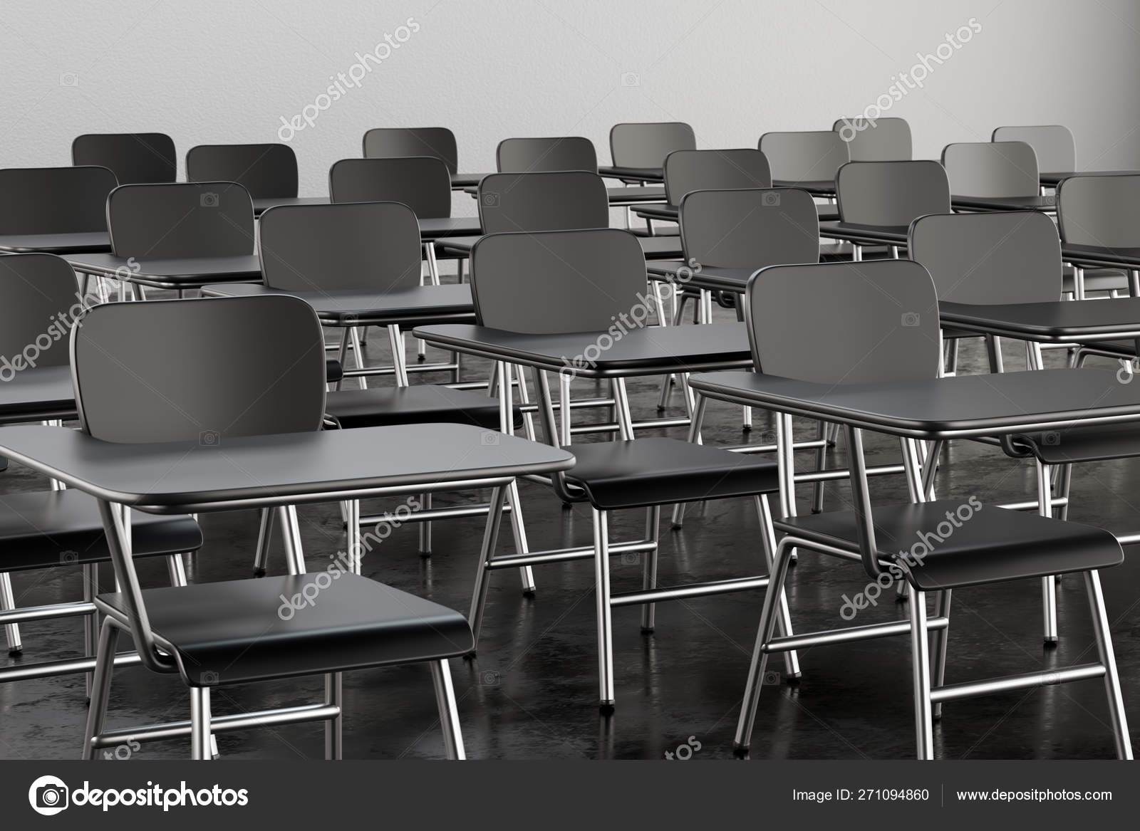 Marvelous Empty Desk Seats In Lecture Room Or School Classroom Stock Pdpeps Interior Chair Design Pdpepsorg
