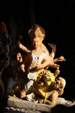 Sculpture of goddess durga