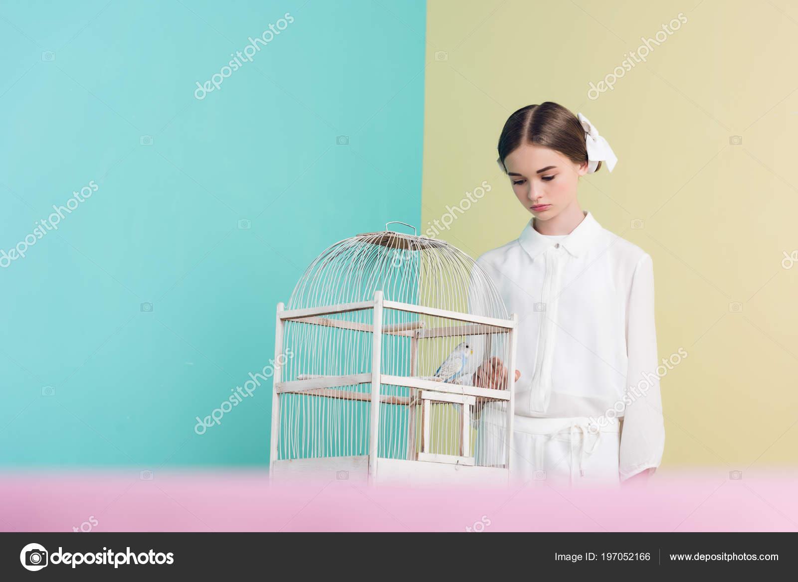 Teen κορίτσια μεγάλο πουλί