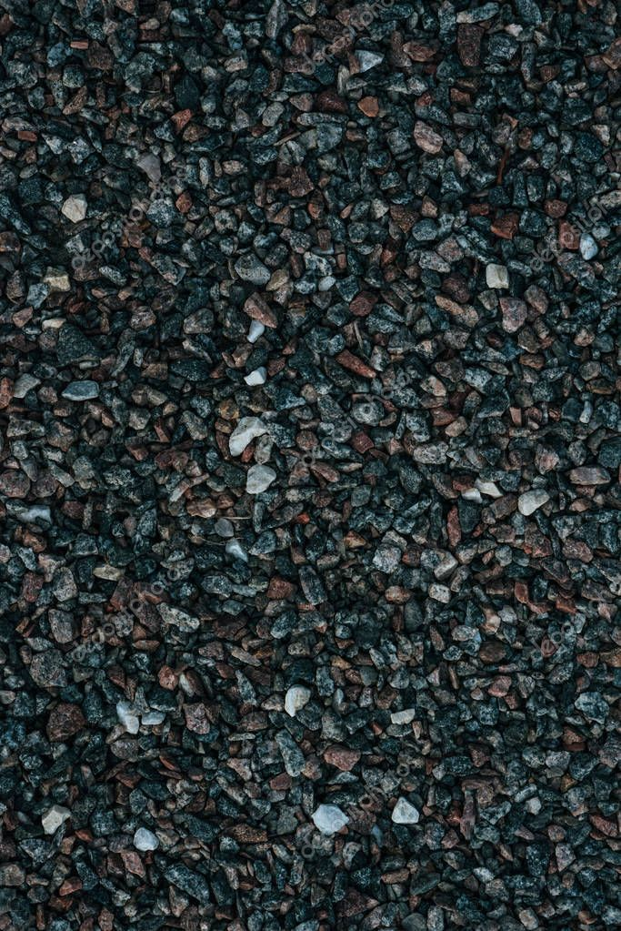 full frame shot of small pebbles on ground for backdrop