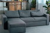belső tér modern nappaliban kényelmes sarok kanapé