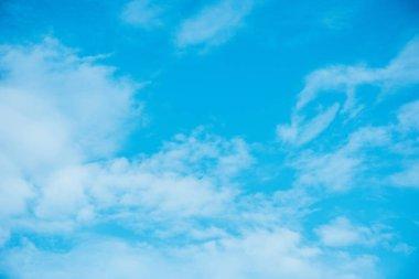 Beautiful light blue cloudy sky stock vector