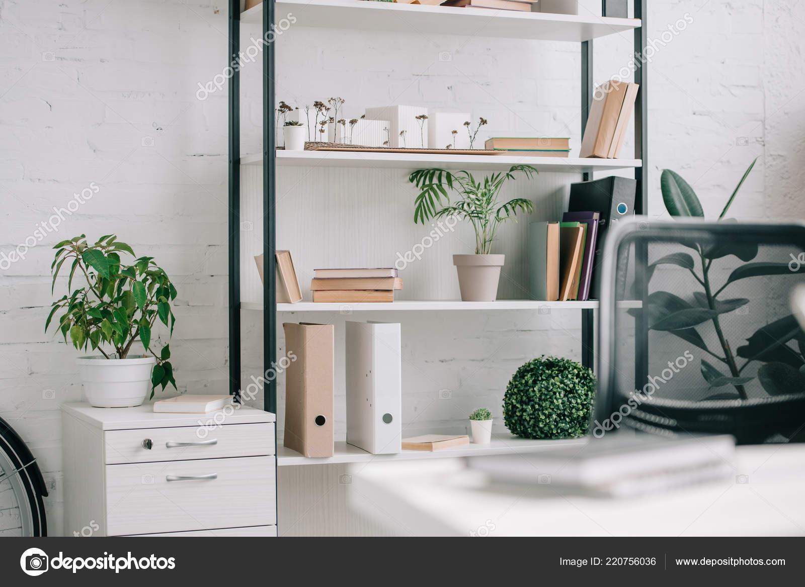 Planten Op Kantoor : Mappen planten planken kantoor u stockfoto andrewlozovyi