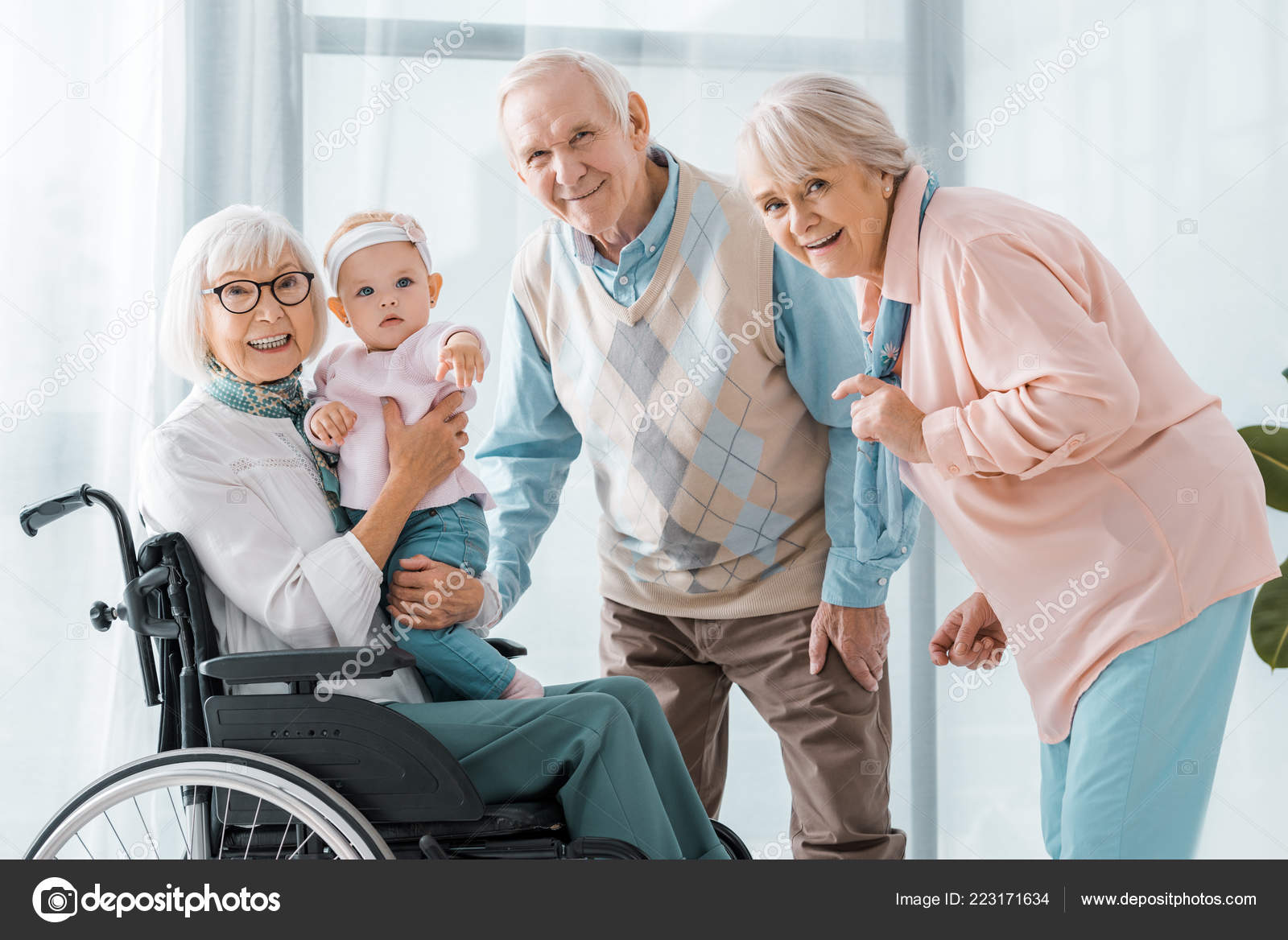 Happy Senior People Toddler Nursing Home Stock Photo C Andrewlozovyi 223171634