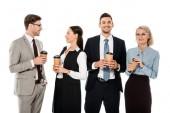 Fényképek Miután kávészünet elszigetelt fehér üzletemberek