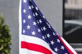 vlajka národní Ameriky s hvězdami a pruhy