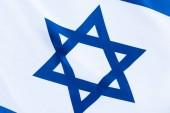 Fotografie Nahaufnahme des blauen Davidsterns auf der israel-Fahne