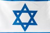 Fotografie Nahaufnahme des blauen Davidsterns auf der israelischen Nationalflagge