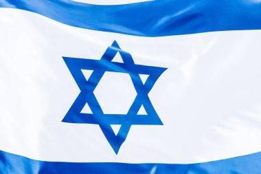 close up of blue star of david of national israel flag
