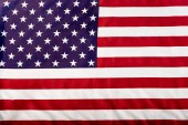 close up of national flag of usa with stars and stripes