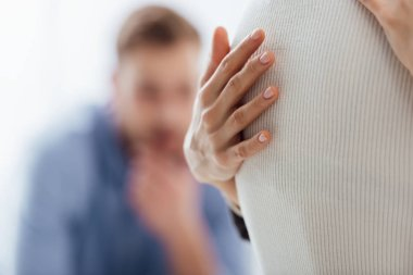 cropped view of woman embracing another woman during therapy meeting with copy space