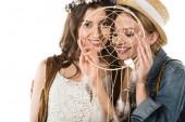 mosolygós biszexuális pár Álomfogó elszigetelt fehér
