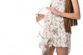 nyírt kilátás terhes nő gazdaság Álomfogó elszigetelt fehér
