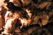 zblízka pohled na delikátní maso na růžových
