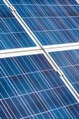 Fényképek kék napenergia akkumulátorok a másolási tér kívül