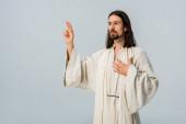 Fényképek az ember imádkozott, miközben a szürkésszürke