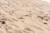 Fotografie selektivní zaměření zlatého písku v poušti