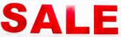 Website Header of Sale Schriftzug auf weißem Hintergrund