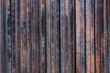 full frame of wooden grungy background