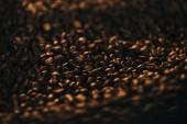 Fotografie Textura aromatické horké zrnkové kávy