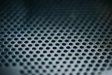 Texture of metal grid of professional coffee roasting machine