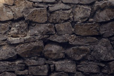 Close-up view of old weathered rough grey wall textured background stock vector
