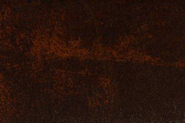 dark brown aged rusty metal textured background