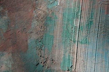 Close-up view of old rough grey and green concrete wall texture stock vector