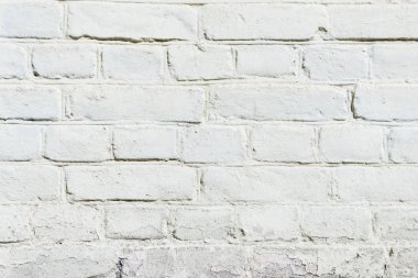White brick wall texture, full frame view stock vector