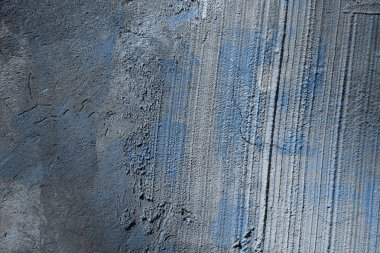 Old rough grey and blue concrete wall texture stock vector