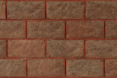Close-up view of brown brick wall textured background stock vector