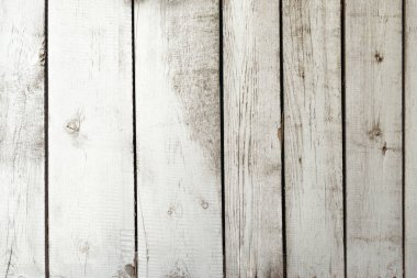 close-up view of light grey wooden planks background