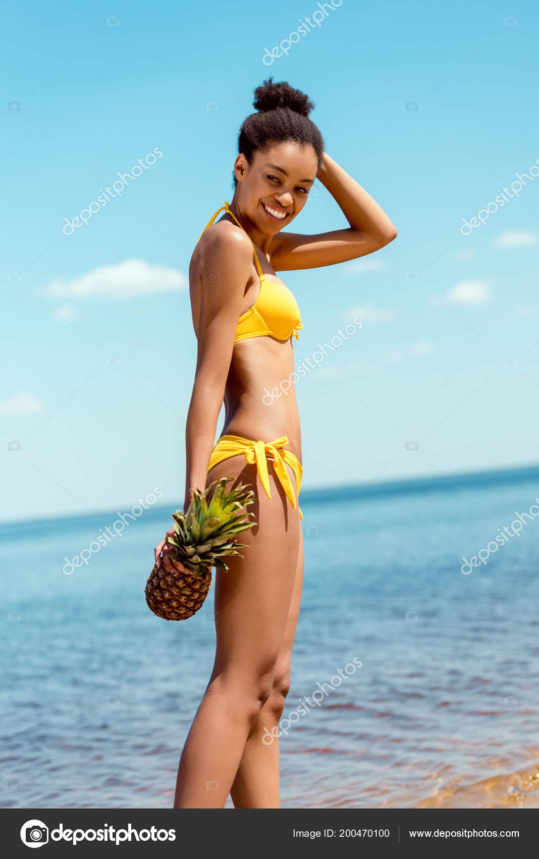 bikini American woman