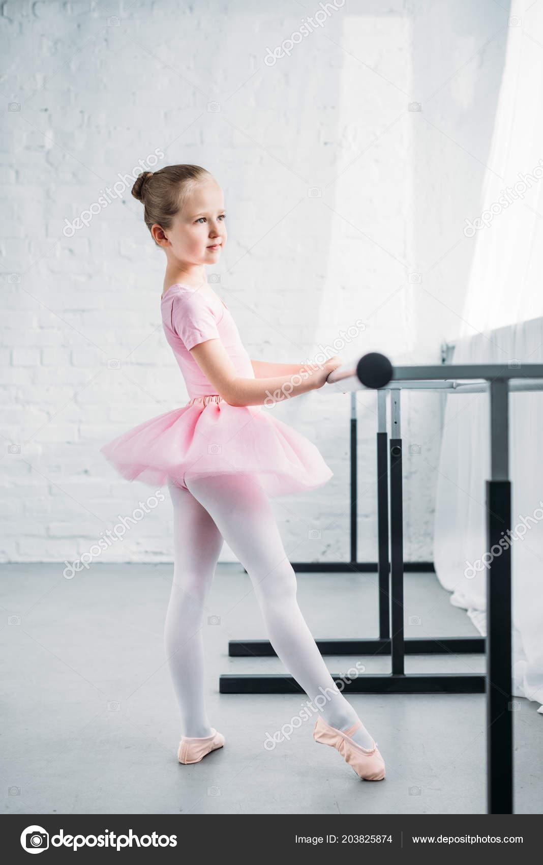 a6d07f99d7a Μερική Άποψη Του Μικρού Παιδιού Ροζ Τουτού Εξάσκηση Μπαλέτο Σχολή — Φωτογραφία  Αρχείου