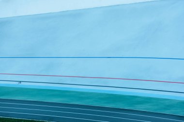 colorful lines at track, geometric background