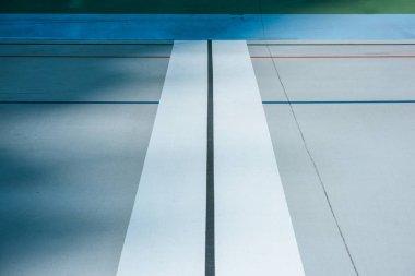 lines on empty velodrome, urban geometric background