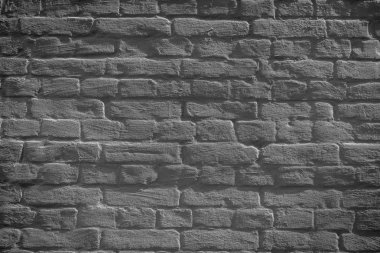 Grey grunge weathered brick wall background, full frame view stock vector