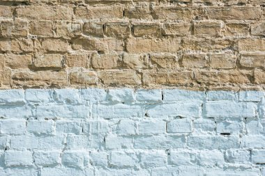 horizontal brown and white brick wall textured background